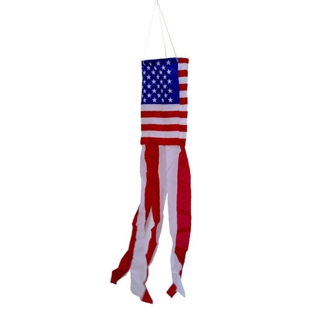 USA flag Tube High Quality Double Sided Printed Polyester American Flag Grommets USA Flag