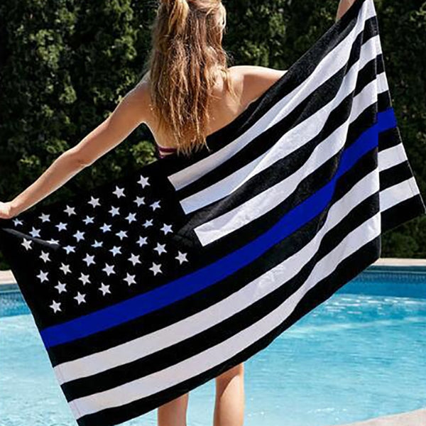 2019Blue Black American Flag Blue Line US Flag For Support  And Law Enforcement Officers