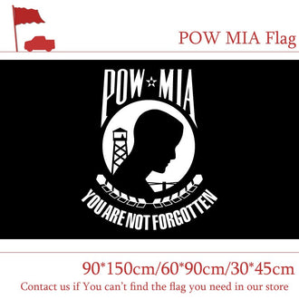 3*5ft American POW MIA Flags 90*150cm 60*90cm MIA Banner 30*45cm Car Flag