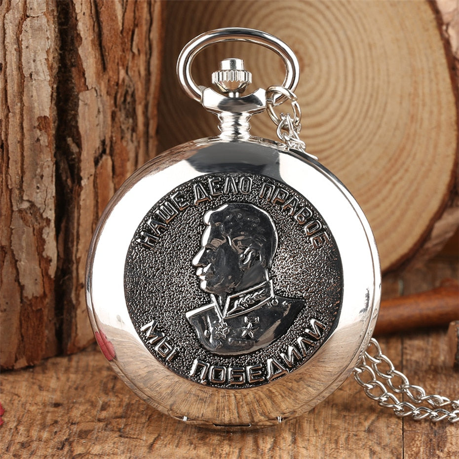 "Classic""For the Victory Over Germany in the Great Patriotic War 1941-1945 "" Theme Pocket Watch Souvenir Necklace Watch Gifts"