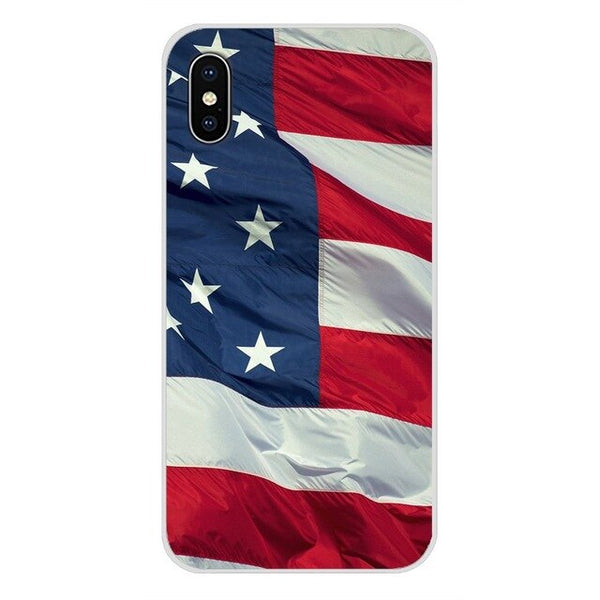 For Oneplus 3T 5T 6T Nokia 2 3 5 6 8 9 230 3310 2.1 3.1 5.1 7 Plus 2017 2018 Thin Blue Line American US Flag Cell Phone Bag Case