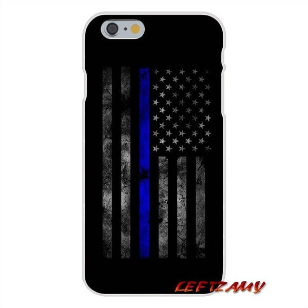 Thin Blue Line USA Flag Police Skull For Xiaomi Mi6 Mi 6 A1 Max Mix 2 5X 6X Redmi Note 5 5A 4X 4A 4 3 Plus Pro Custom Phone Case