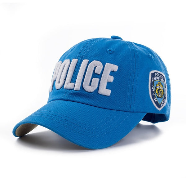 100% cotton Adults and children Police Baseball Cap Men Tactical Cap Mens Baseball Caps Brand Snapback Trucker Hat For Man Women