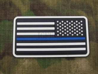 red background luminous design Right Luminous The thin blue line America flag Police SWAT Military 3D PVC  patch PB1376