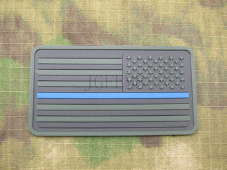 Right Green The thin blue line America flag Police SWAT Military Morale 3D PVC patch PB1373