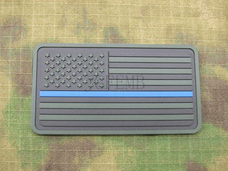 Green The thin blue line America flag Police SWAT Military Morale 3D PVC  patch PB1371