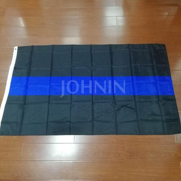 Xiangying 90*150cm polyester united states of american thin blue line first responder police memorial flag