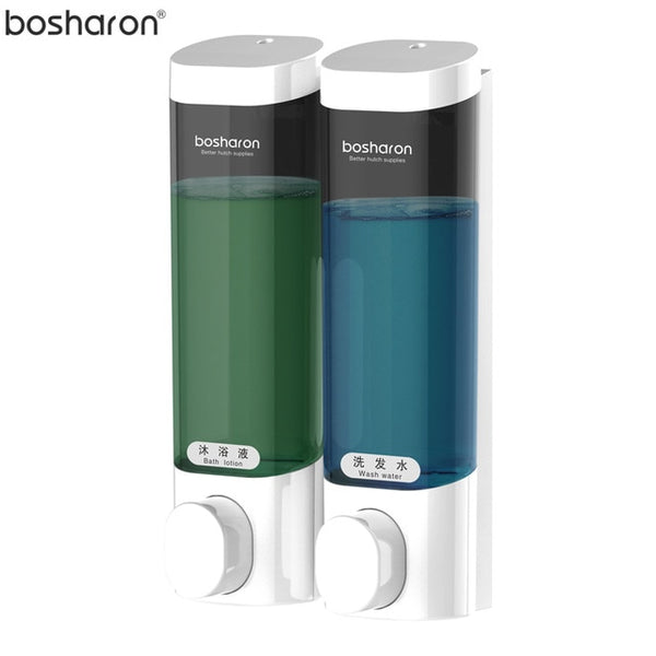 Bathroom Liquid Soap Dispenser Wall Mounted For Kitchen Plastic 300ml Shower Gel Detergent Shampoo Bottle Hotel Home Accessories