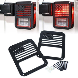 Exterior Grille Tail Light Rear Lamp Cover Guards American Flag