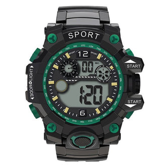 Trendy Silicone Sports Luxury Men Analog Digital Military Sport LED Quartz Waterproof Wrist Watch New Clock tactical fashion