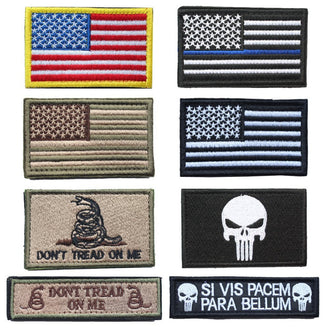 USA flag patches American Thin Blue Line Police Flag Tactical Embroidered Military Patches for clothes backpack hat