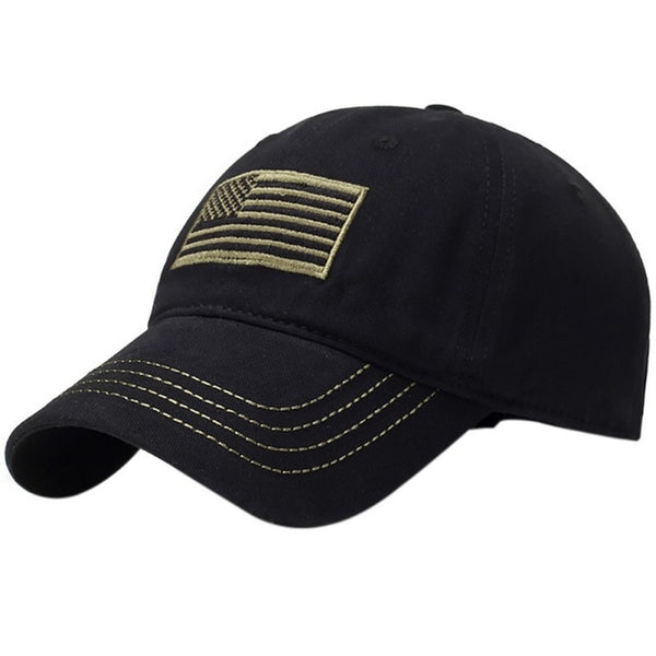 Flag embroidery hat Yellow line Camping Low Profile Tactical Man Hats For Police Law Enforcement Back the Blue Embroidered Cap