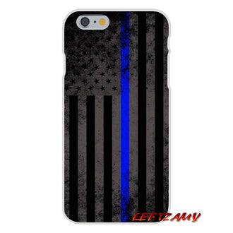 Mobile Phone Cases Covers Thin Blue Line USA Flag Police Skull For Huawei P Smart Mate Honor 7A 7C 8C 8X 9 P10 P20 Lite Pro Plus