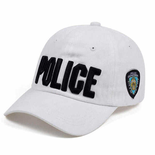2019NEW Brand Novelty Fashion Letter POLICE Men Caps Casual Cotton Baseball Cap For Women Summer Snapback Hats High Quality Bone