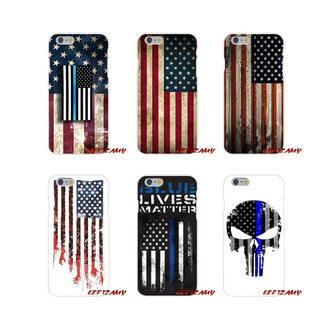 Accessories Phone Cases Covers Thin Blue Line USA Flag Police Skull For Samsung Galaxy A3 A5 A7 J1 J2 J3 J5 J7 2015 2016 2017