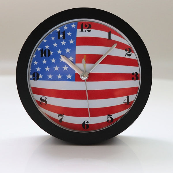 American Flag Design Clock