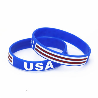 USA American Flag Silicone Bracelets