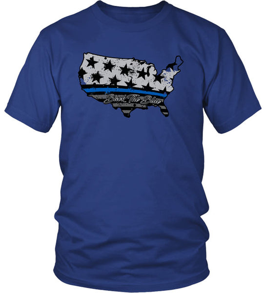 BACK THE BLUE US T-SHIRT