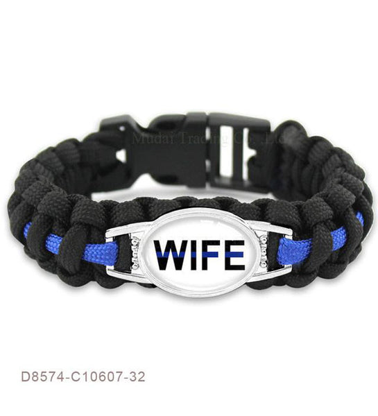 THIN BLUE LINE SURVIVAL PARACORD BRACELETS