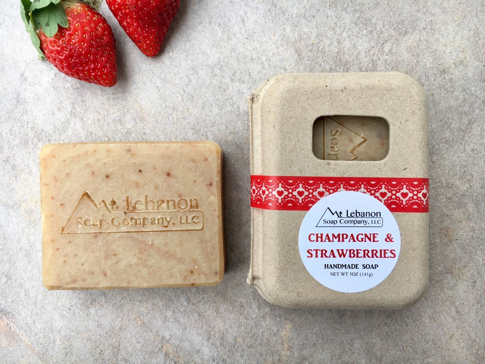 Champagne & Strawberries Soap