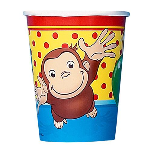 Curious George 9oz Cups [8 Per Pack] - shop54675