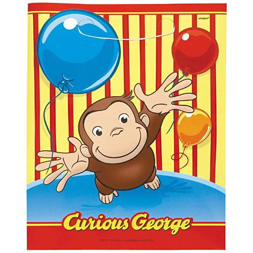 Curious George Loot Bags [8 Per Pack] - shop54675