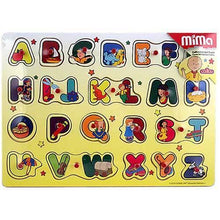 Load image into Gallery viewer, Caillou Wood Peg Puzzle [Alphabet] - shop54675