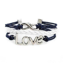 Load image into Gallery viewer, Infinity Love Bracelet [Navy and White] - shop54675