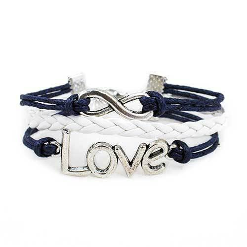 Infinity Love Bracelet [Navy and White] - shop54675