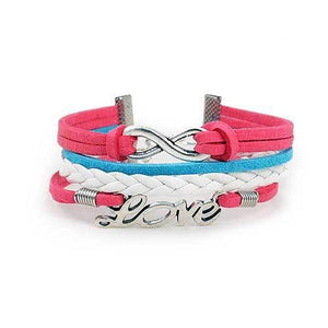 Infinity Love Bracelet [Pink Blue and White] - shop54675