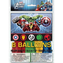 Load image into Gallery viewer, Marvel's Avengers Latex Balloons [8 Per Package] - shop54675