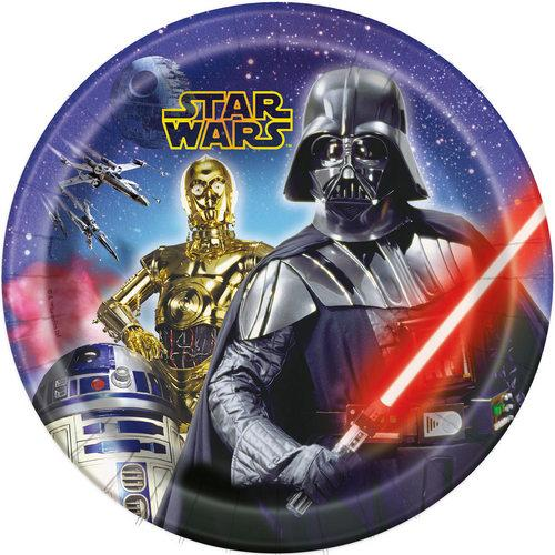 Star Wars 9 Inch Paper Plates [8 Per Pack] - shop54675