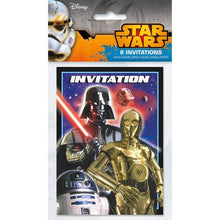 Load image into Gallery viewer, Star Wars Invitations [8 Per Pack] - shop54675