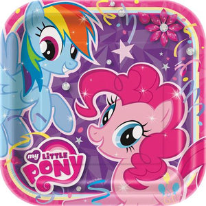 My Little Pony 9 Inches Square Party Plates [8 Per Pack] - shop54675