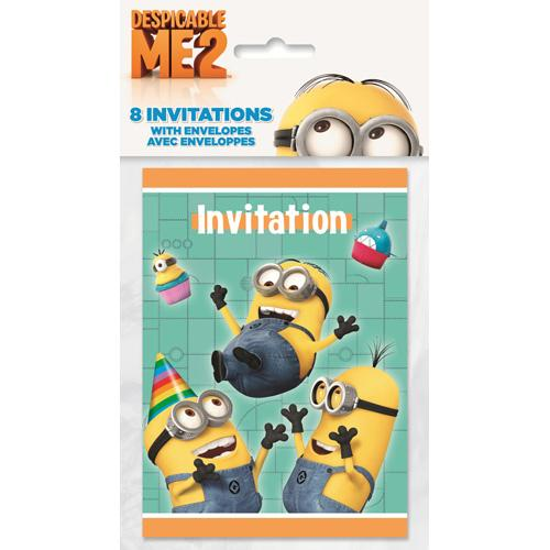 Despicable Me Party Invitations - High Five [8 Per Pack] - shop54675