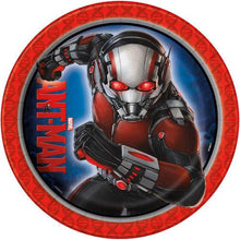 Load image into Gallery viewer, Marvel Ant Man 9 Inch Lunch Plates [8 per Pack] - shop54675