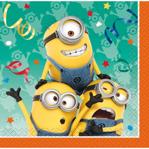 The Minions Beverage Napkins [16 Per Pack] - shop54675