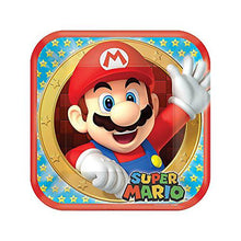 Load image into Gallery viewer, Super Mario Bros 9 Inch Square Plates [8 per Package] - shop54675