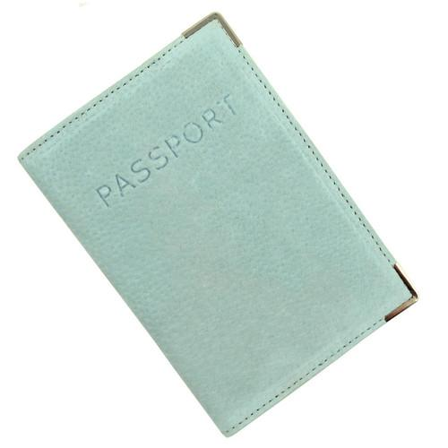 Austin House Genuine Suede Passport Cover - Green - shop54675
