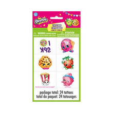 Load image into Gallery viewer, Shopkins Temporary Tattoo Sheets [4 per Pack] - shop54675