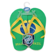 Load image into Gallery viewer, World of Sports Flip-Flops - Brazil - Medium - shop54675