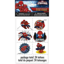 Load image into Gallery viewer, Spider-ManTattoo Sheets [4 Sheets] - shop54675