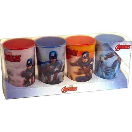 Marvel Avengers Captain America Lenticular Tumbler Set (4 Pieces) - shop54675