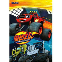 Load image into Gallery viewer, Blaze and the Monster Machines Folded Loot Bags [8 Per Pack] - shop54675