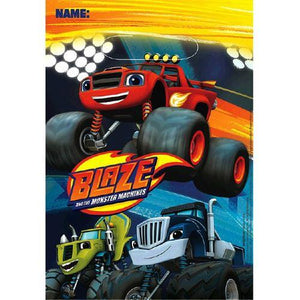 Blaze and the Monster Machines Folded Loot Bags [8 Per Pack] - shop54675