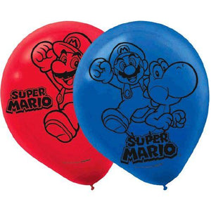 Super Mario Brothers Printed Latex Balloons [6 pack] - shop54675