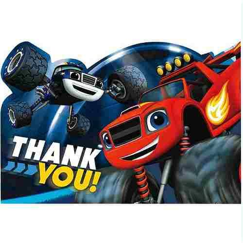 Blaze and the Monster Machines Postcard Thank You Cards [8 Per Pack] - shop54675