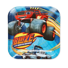 Load image into Gallery viewer, Blaze and the Monster Machines Square Plates [7 Inches - 8 Per Pack] - shop54675