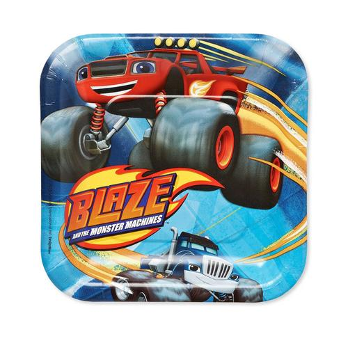 Blaze and the Monster Machines Square Plates [7 Inches - 8 Per Pack] - shop54675
