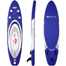 Load image into Gallery viewer, 11' Adjustable Inflatable Stand up Paddle SUP Surfboard with Bag - shop54675